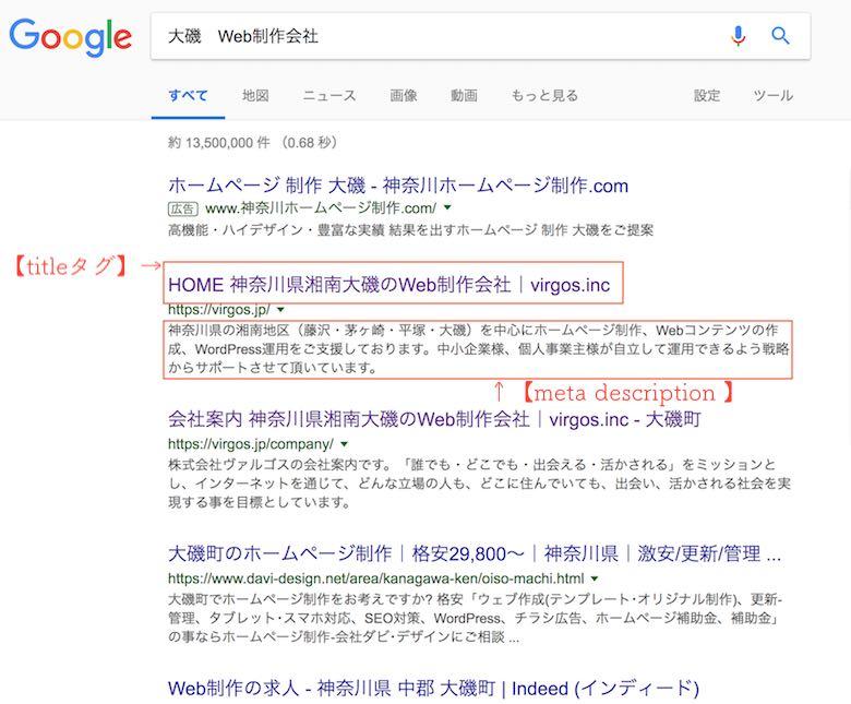 googleの検索結果画面です
